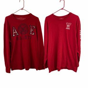 American Eagle Old Navy Red Shirts XL